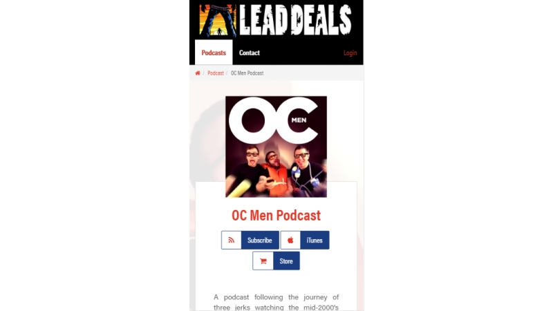 Podcast page mobile view